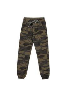 Calça Jeans Jogger Camuflado Verde
