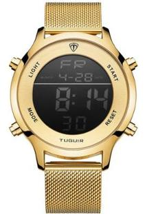Relógio Tuguir Digital Tg101 - Unissex-Dourado