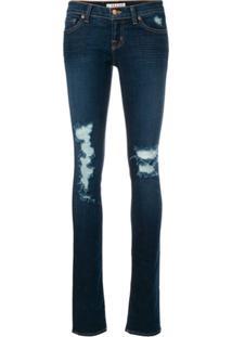 J Brand Calça Jeans Skinny Destroyed - Azul