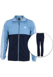 0d4567c036 Agasalho Adidas Back2Bas 3S - Masculino - Azul Cla Azul Esc