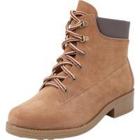 8171f7b77 Coturno Camurca Caramelo feminino   Shoes4you