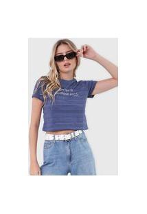 Camiseta Aeropostale Lettering Azul