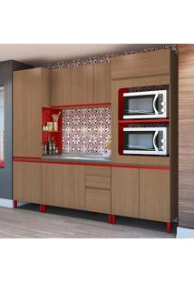 Cozinha Compacta New Urban Ii Nature E Marsala