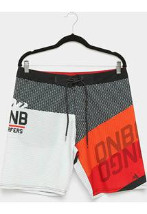 Boardshort Onbongo Sublimado Textura Masculino - Masculino