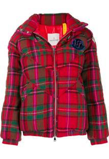 Moncler 1952 Plaid Padded Jacket - Vermelho