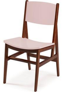 Cadeira Dumon Cor Cacau Com Bege Claro - 30794 - Sun House