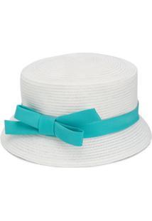 Colorichiari Bow Detail Sun Hat - Branco