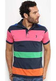 Camisa Polo Aleatory Fio Tinto Listras Masculina - Masculino cc49cec997e33