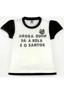 Baby Look Reve D'Or Sport Glitter Santos Branca E Preta