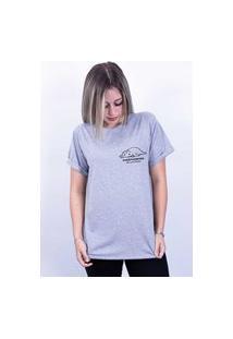 Camiseta Bilhan Corte A Fio Overthinking Pqn Cinza