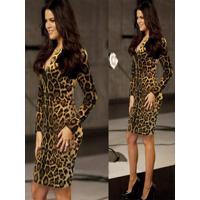 0930573ca8 Madame Chic. Vestido Tubinho Animal Print
