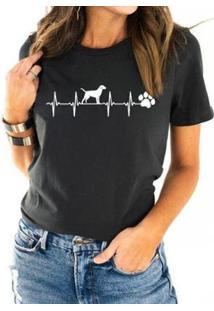 T-Shirt Eletrodog Buddies Feminina - Feminino-Chumbo