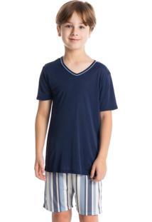 Pijama Infantil Masculino Curto Clóvis