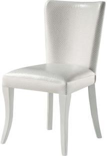 Cadeira Nazare Com Puxador Pe Laca Branco Brilho - 37393 - Sun House