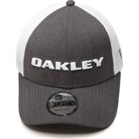 Boné Oakley Trucker Heather New Era Cinza Branco 7c2af396fe9