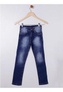 Calça Jeans Juvenil Tdv Masculina - Masculino-Azul