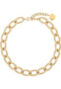 By Alona Colar Tiffany Banhado A Ouro 18K - Dourado