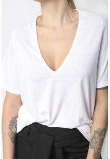 Camiseta Gola V Superfluous Eco Branca