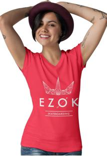 Camiseta Gola V Ezok Urban Vermelho