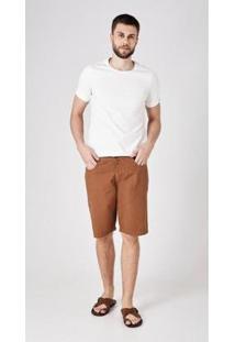 Bermuda Jeans Express Marcio - Masculino-Marrom