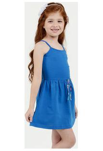 Vestido Infantil Textura Alças Finas Marisa