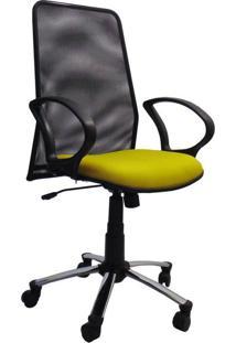Cadeira De Escritório Diretor Milão Amarelo