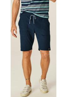 Bermuda Azul Marinho Comfort Texturizada
