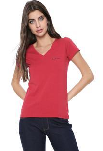 Camiseta Planet Girls Logo Bordado Vermelha