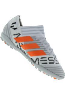 Chuteira Society Adidas Nemeziz Messi Tango 17.3 Tf - Adulto - Branco Cinza 8c95a61c75de0