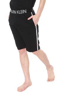 Bermuda Calvin Klein Underwear Reta Lettering Preta