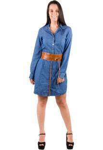 Chemisier Banna Hanna Jeans - Feminino-Azul