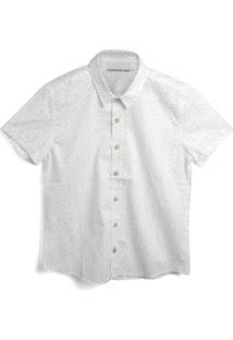 Camisa Calvin Klein Kids Menino Lisa Branca