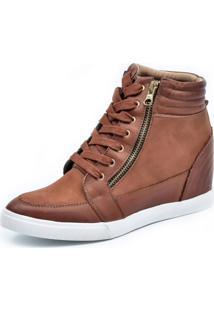 Tênis Sneaker Scarpan Calçados Finos Couro Whisky