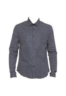 Camisa Calvin Klein Monograma Azul-Marinho