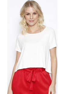 Camiseta Lisa Com Tag - Off White - Sommersommer