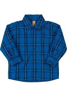 Camisa Infantil Xadrez Azul