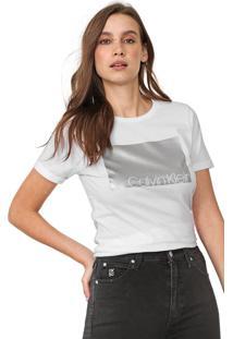 Camiseta Calvin Klein Foil Branca