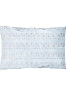 Travesseiro Papi Baby ÉTnica- Azul Claro & Marrom- 4Papi