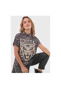 Camiseta Triton Onça Bege