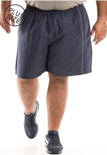 Bermuda Konciny Sarja Plus Size Azul Marinho