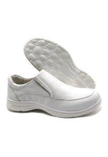 Sapato Branco Masculino Ortopédico Social Em Couro 2711/05
