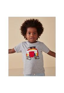 Amaro Feminino Camiseta Infantil Estampa Interativa, Mescla