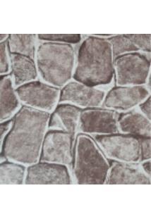 Kit 3 Rolos De Papel De Parede Lavável 3D Pedra Rustico Fwb - Kanui