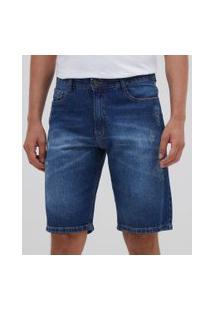 Bermuda Em Jeans   Marfinno   Azul   46