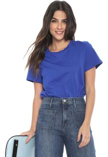 Camiseta Banana Republic Supima Cotton Crew-Neck Azul