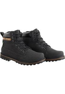 Bota Couro Cr Shoes Masculina - Masculino-Preto