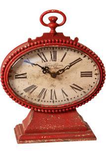 Relógio De Mesa Vintage Decorativo Bilanciare De Metal