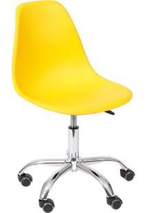 Cadeira Eames Dkr- Amarela & Prateada- 93X47X41Cm