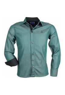 Camisa Infantil Alfa Manga Longa Algodão Fio 60 172 Verde