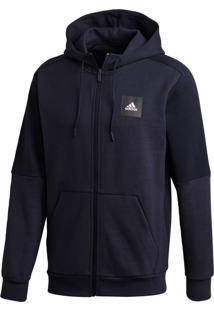 Jaqueta Adidas Mhs Fz Sta Azul